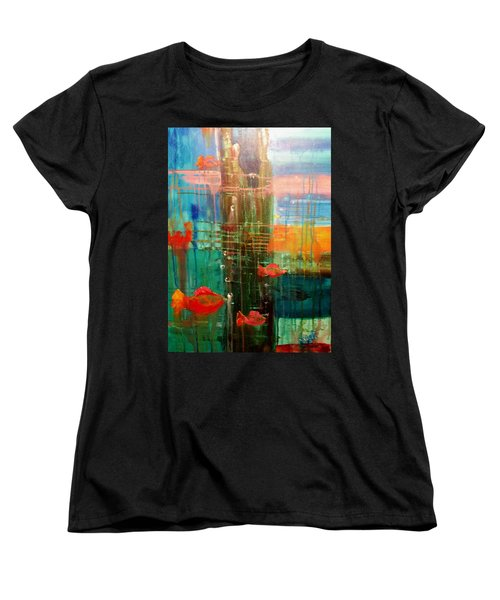 Under The Dock Women's T-Shirt (Standard Cut) by Renate Nadi Wesley