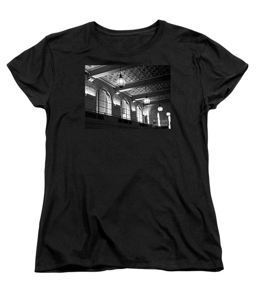 Union Station Balcony - New Haven Women's T-Shirt (Standard Cut) by James Aiken