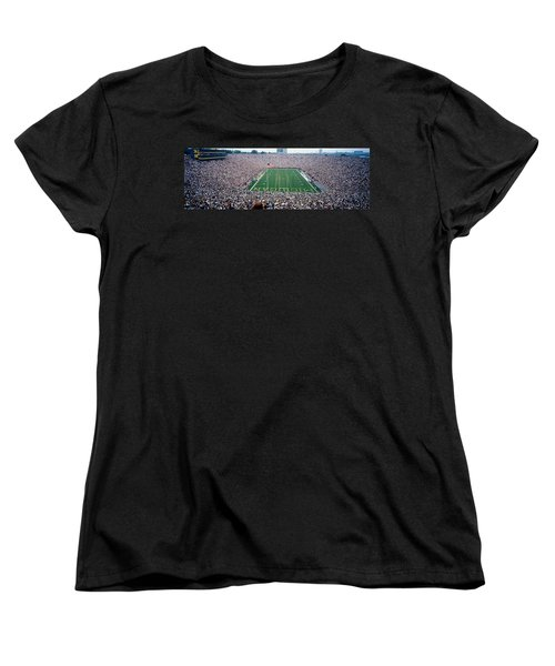 University Of Michigan Football Game Women's T-Shirt (Standard Cut) by Panoramic Images