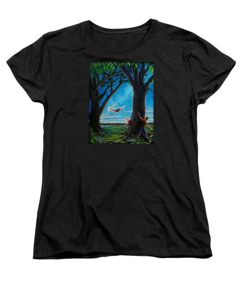 Women's T-Shirt (Standard Cut) featuring the painting Innocence  by Matt Konar