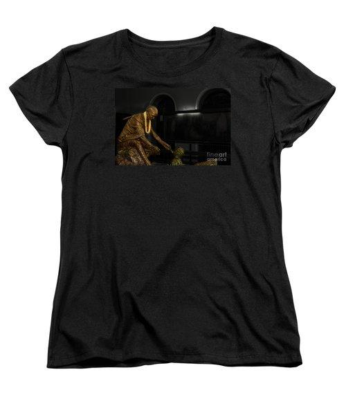 Uplift The Downtrodan Women's T-Shirt (Standard Cut) by Kiran Joshi