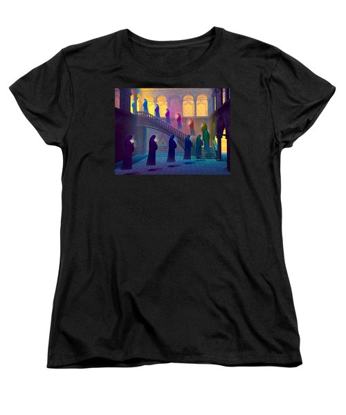 Women's T-Shirt (Standard Cut) featuring the painting Uplifting Prayer by Dave Luebbert