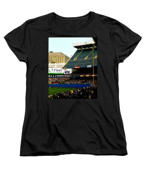 Women's T-Shirt (Standard Cut) featuring the pyrography Upper Deck  The Yankee Stadium by Iconic Images Art Gallery David Pucciarelli