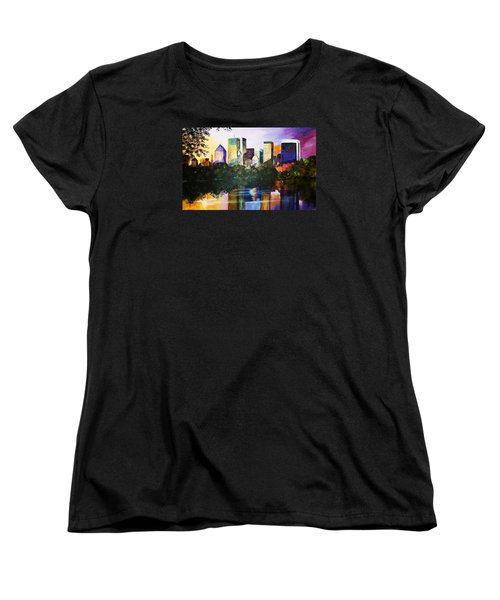 Women's T-Shirt (Standard Cut) featuring the painting Urban Reflections by Al Brown