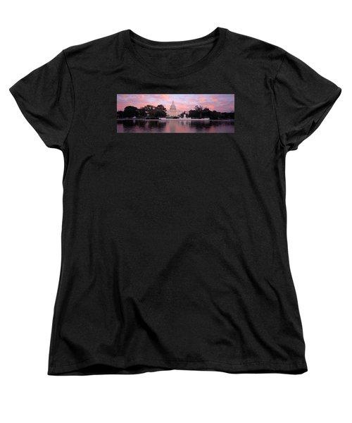 Us Capitol Washington Dc Women's T-Shirt (Standard Cut) by Panoramic Images
