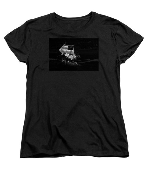 Women's T-Shirt (Standard Cut) featuring the photograph U.s. Flag Western by Ron White