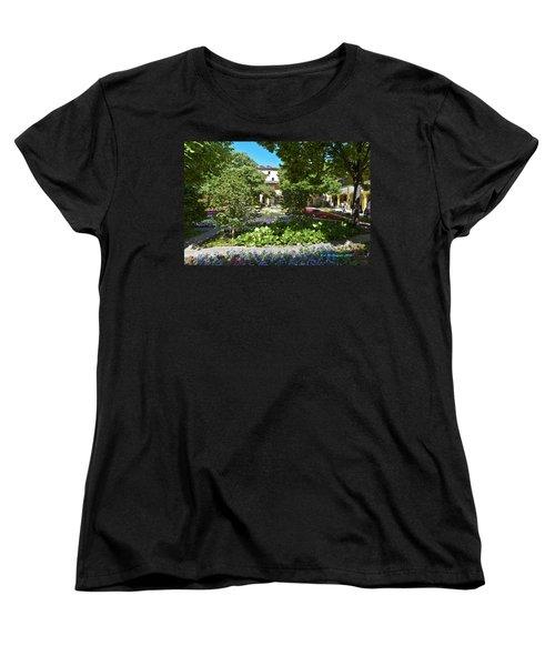 Women's T-Shirt (Standard Cut) featuring the photograph Van Gogh - Courtyard In Arles by Allen Sheffield