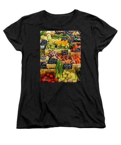 Veg At Marche Provencal Women's T-Shirt (Standard Cut) by Allen Sheffield