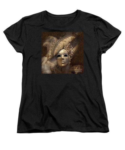 Venetian Face Mask F Women's T-Shirt (Standard Cut) by Heiko Koehrer-Wagner