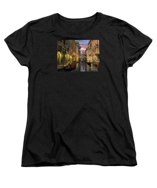Venice At Dusk Women's T-Shirt (Standard Cut) by Dominic Davison