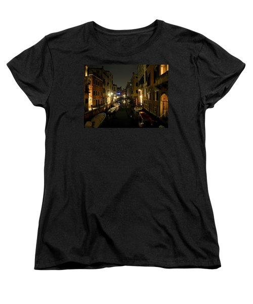 Women's T-Shirt (Standard Cut) featuring the photograph Venice At Night by Silvia Bruno