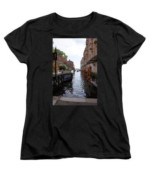 Venice Dock Women's T-Shirt (Standard Cut) by Debi Demetrion
