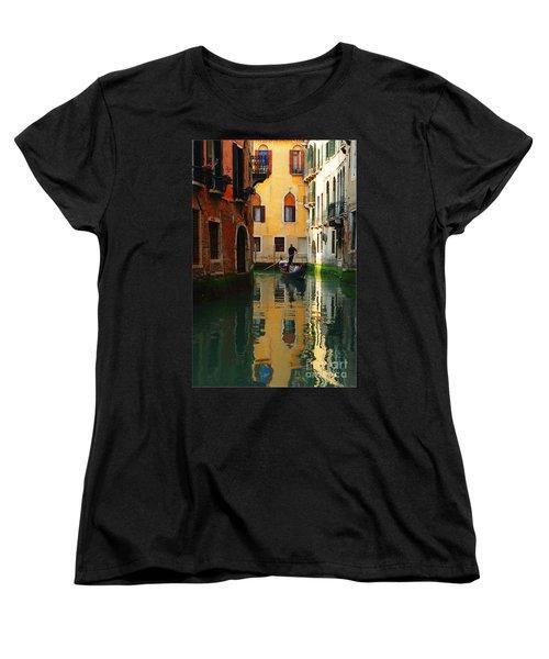 Venice Reflections Women's T-Shirt (Standard Cut) by Bob Christopher