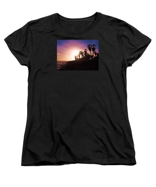 Ventura Beach Sunset Women's T-Shirt (Standard Cut) by Mary Ellen Frazee