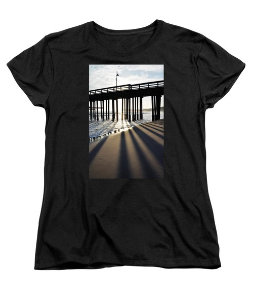Women's T-Shirt (Standard Cut) featuring the photograph Ventura Pier Shadows by Kyle Hanson
