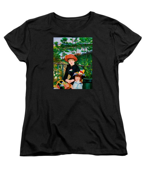 Version Of Renoir's Two Sisters On The Terrace Women's T-Shirt (Standard Cut) by Cyril Maza