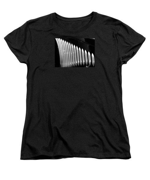 Vertical Vents Women's T-Shirt (Standard Cut) by Rebecca Davis