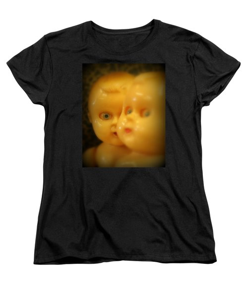 Women's T-Shirt (Standard Cut) featuring the photograph Very Scary Doll by Lynn Sprowl