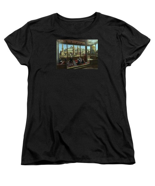 Women's T-Shirt (Standard Cut) featuring the painting View From Egypt by Laila Awad Jamaleldin