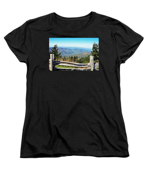 View From Mt. Mitchell Summit Women's T-Shirt (Standard Cut) by Lydia Holly