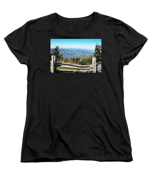 View From Mt. Mitchell Summit Women's T-Shirt (Standard Cut)