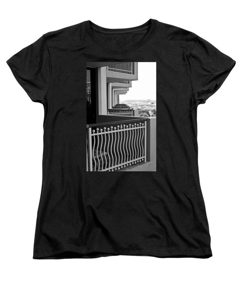 View From The Hotel Balcony Women's T-Shirt (Standard Cut) by Wayne King