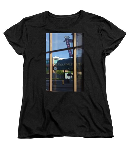 View From The Window Auburn Washington Women's T-Shirt (Standard Cut) by Cathy Anderson