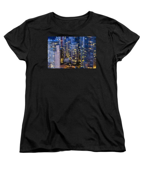 Women's T-Shirt (Standard Cut) featuring the photograph View Towards Coal Harbor Vancouver Mdxxvii  by Amyn Nasser