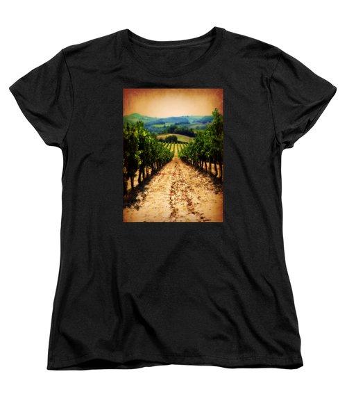 Women's T-Shirt (Standard Cut) featuring the photograph Vigneto Toscana by Micki Findlay