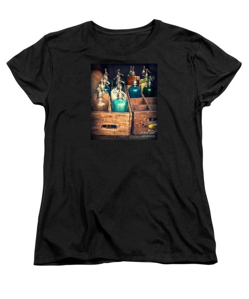 Vintage Antique Seltzer Bottles Women's T-Shirt (Standard Cut) by Miriam Danar
