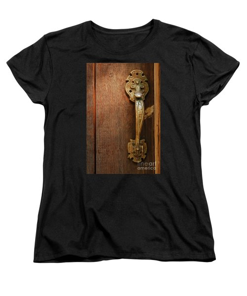 Women's T-Shirt (Standard Cut) featuring the photograph Vintage Door Handle by Patrick Shupert