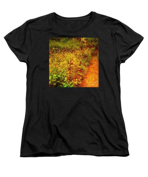 Women's T-Shirt (Standard Cut) featuring the photograph Vintage Garden Path by Terri Gostola