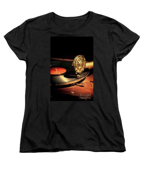 Vintage Record Player Women's T-Shirt (Standard Cut) by Jill Battaglia