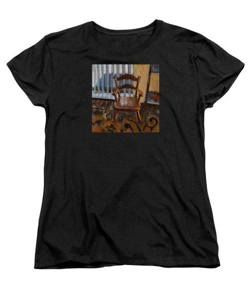 Women's T-Shirt (Standard Cut) featuring the painting Vintage Rocker by Pattie Wall