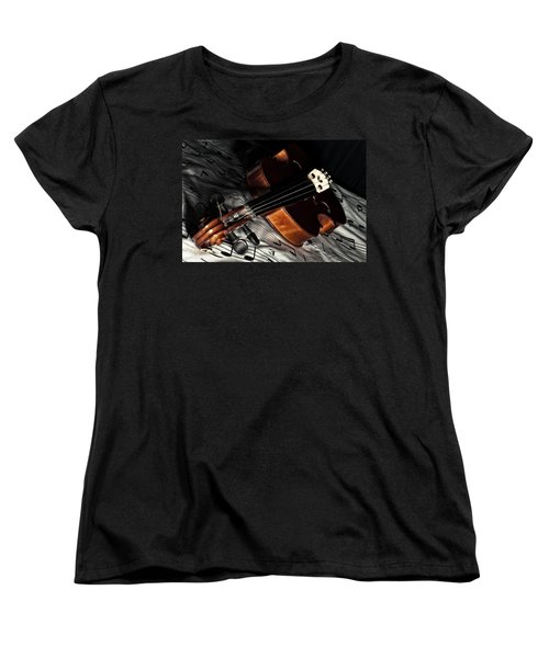 Vintage Violin Women's T-Shirt (Standard Cut) by Mike Santis
