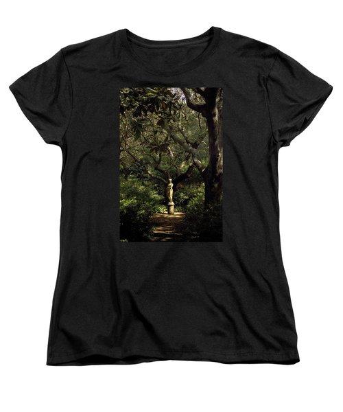 Women's T-Shirt (Standard Cut) featuring the photograph Virginia Dare Statue by Greg Reed