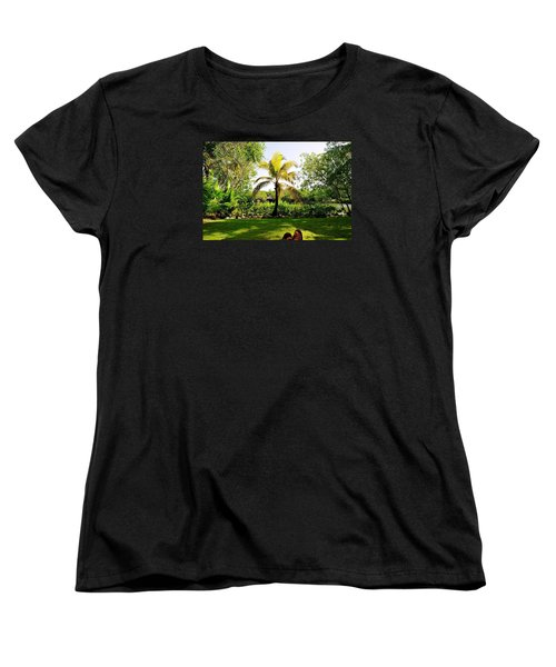 Women's T-Shirt (Standard Cut) featuring the photograph Visiting A Mayan Trail by Kicking Bear  Productions