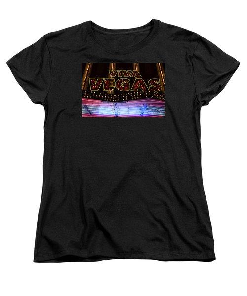 Viva Vegas Neon Women's T-Shirt (Standard Cut) by Bob Christopher