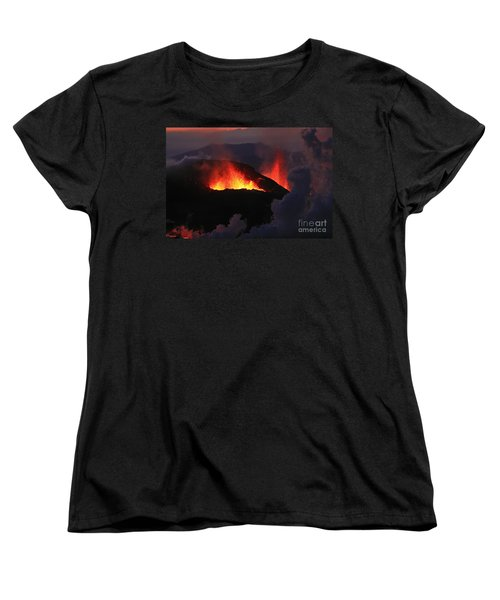Women's T-Shirt (Standard Cut) featuring the photograph Volcanic Eruptions by Gunnar Orn Arnason