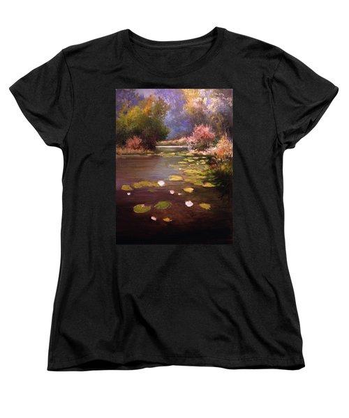 Women's T-Shirt (Standard Cut) featuring the painting Voronezh River by Mikhail Savchenko