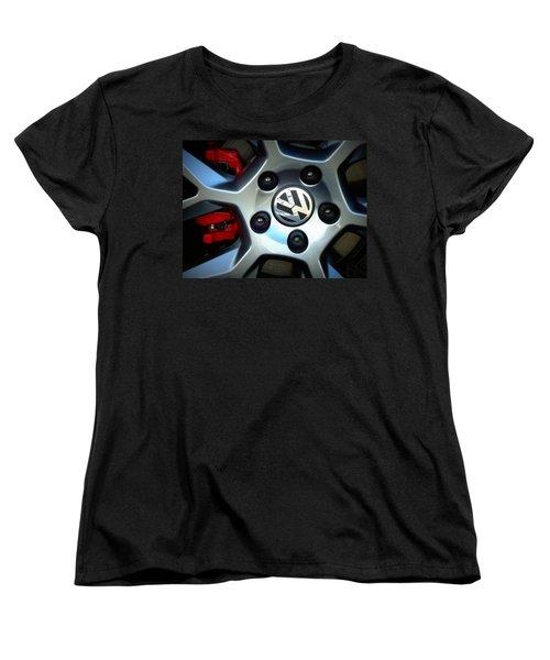 Vw Gti Wheel Women's T-Shirt (Standard Cut) by Joseph Skompski