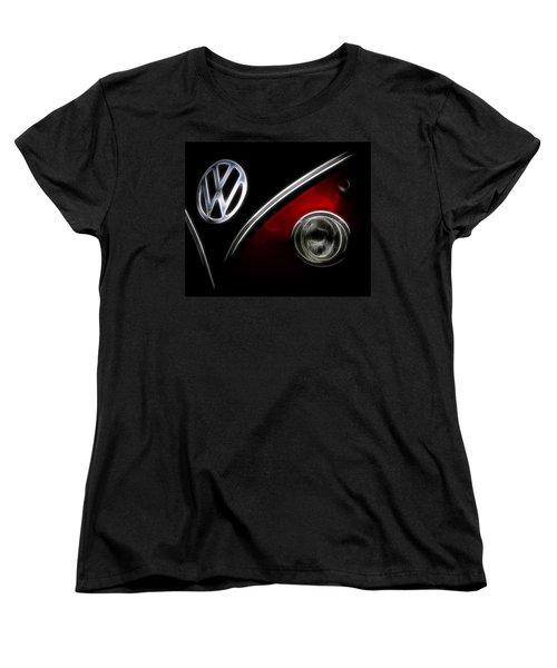 Vw Micro Bus Logo Women's T-Shirt (Standard Cut) by Steve McKinzie