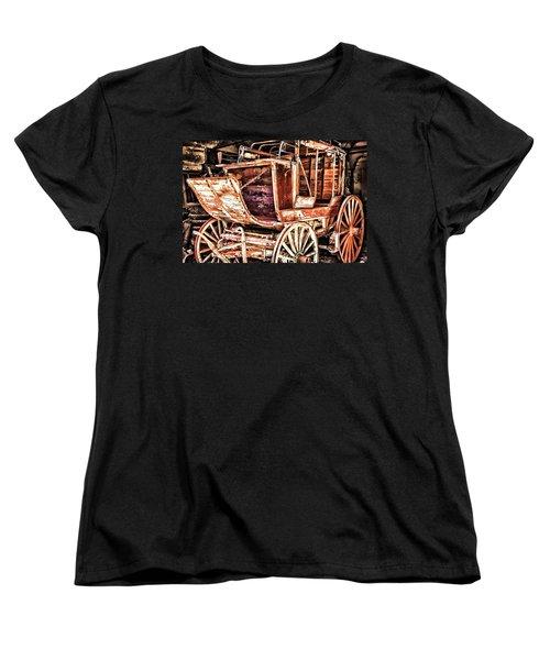 Women's T-Shirt (Standard Cut) featuring the painting Wagon by Muhie Kanawati