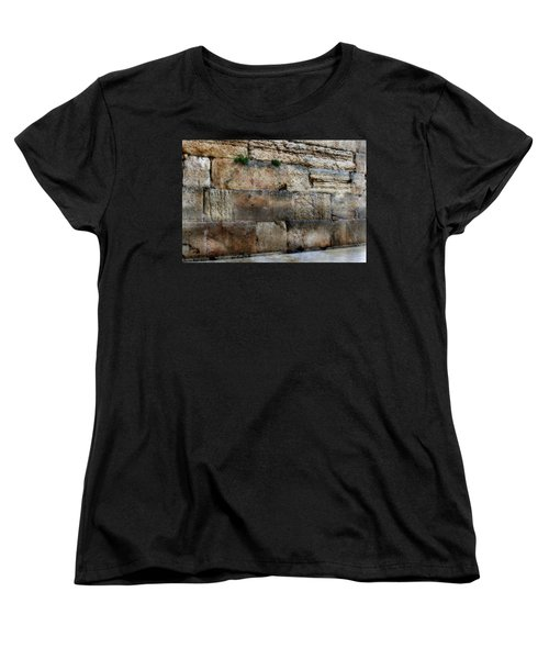 Women's T-Shirt (Standard Cut) featuring the photograph Wailing Wall In Israel by Doc Braham