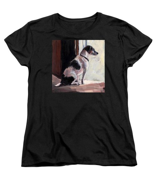 Women's T-Shirt (Standard Cut) featuring the painting Wait And See by Molly Poole