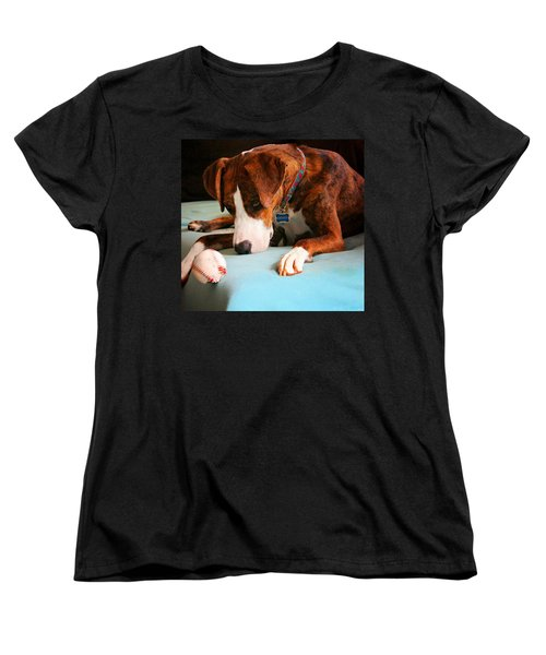 Women's T-Shirt (Standard Cut) featuring the photograph Wait For It      Wait For It by Robert McCubbin