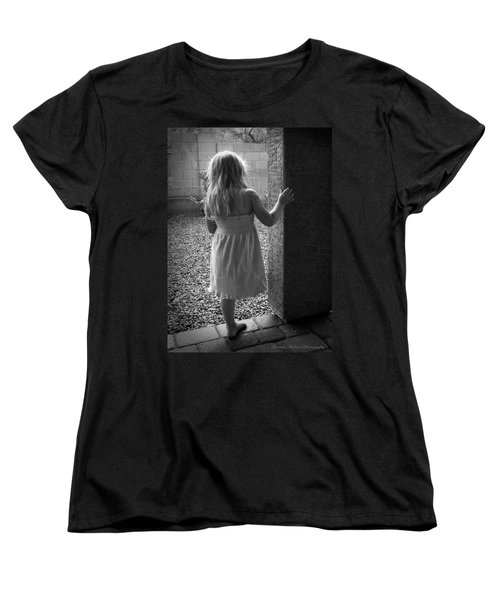 Women's T-Shirt (Standard Cut) featuring the photograph Waiting For The Rain To End  by Lucinda Walter