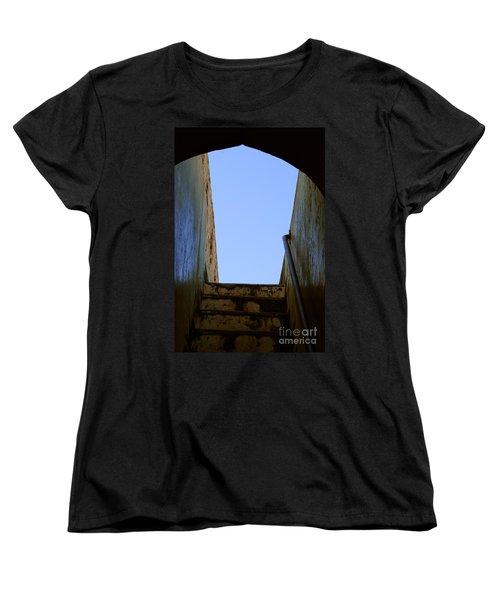 Walk To The Sky Women's T-Shirt (Standard Cut) by Kiran Joshi