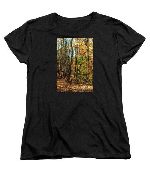 Women's T-Shirt (Standard Cut) featuring the photograph Walking The Mountain Trail by Debbie Green