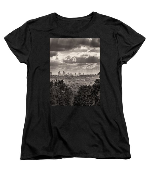 Women's T-Shirt (Standard Cut) featuring the photograph Walking The Sights by Lenny Carter